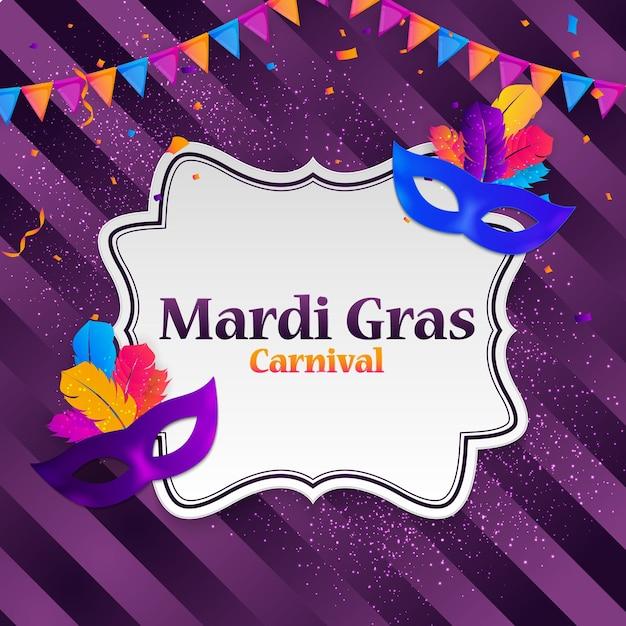 Karneval karneval hintergrund Premium Vektoren