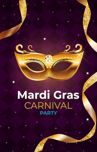 Karneval karneval party hintergrund. illustration Premium Vektoren