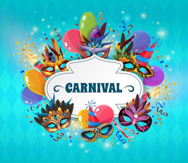 Karneval-konzept-illustration Kostenlosen Vektoren