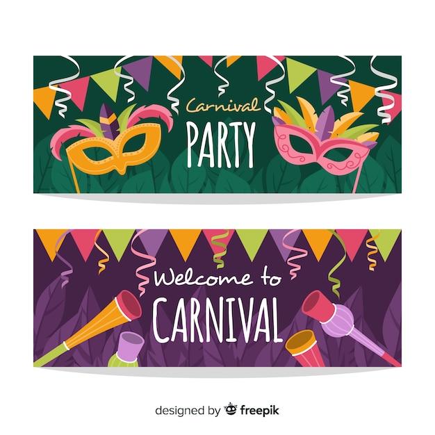 Karneval-party-banner Kostenlosen Vektoren