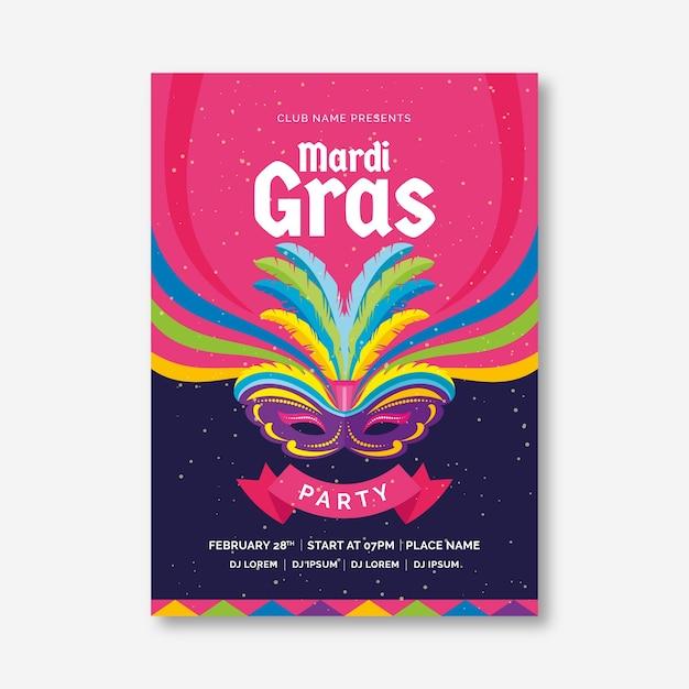 Karneval party poster flyer vorlage Kostenlosen Vektoren