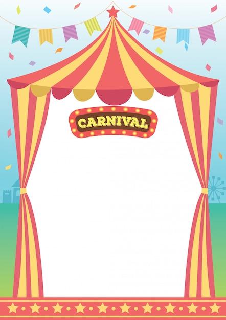 Karneval zirkusvorlage Premium Vektoren