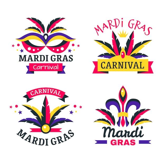 Karnevalausweis-sammlungskonzept Kostenlosen Vektoren