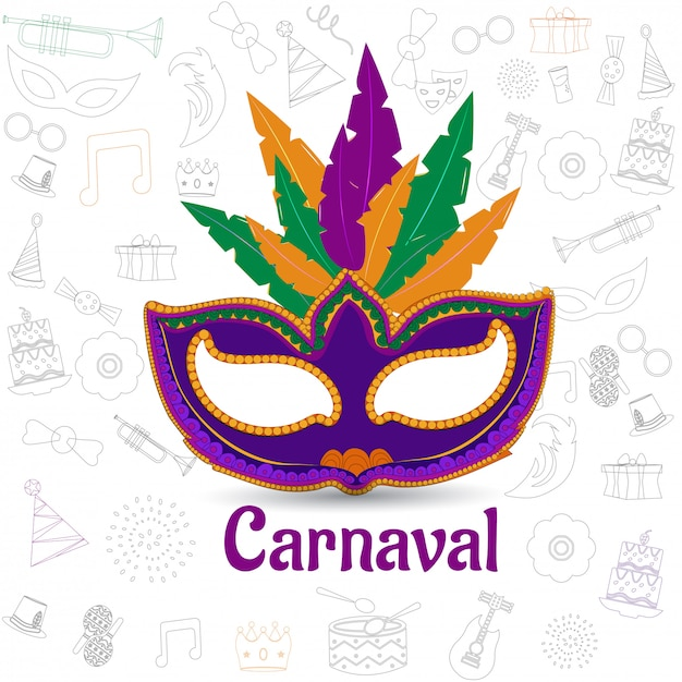 Karnevalsfeier Premium Vektoren