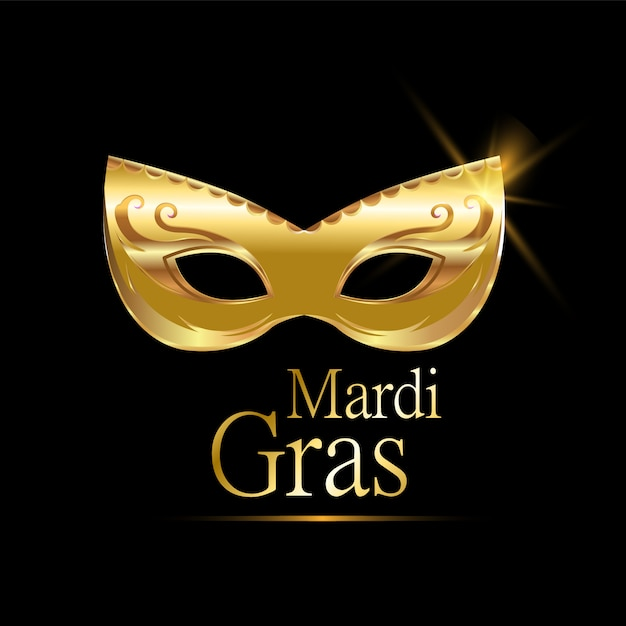 Karnevalsmaske von mardi gras Premium Vektoren