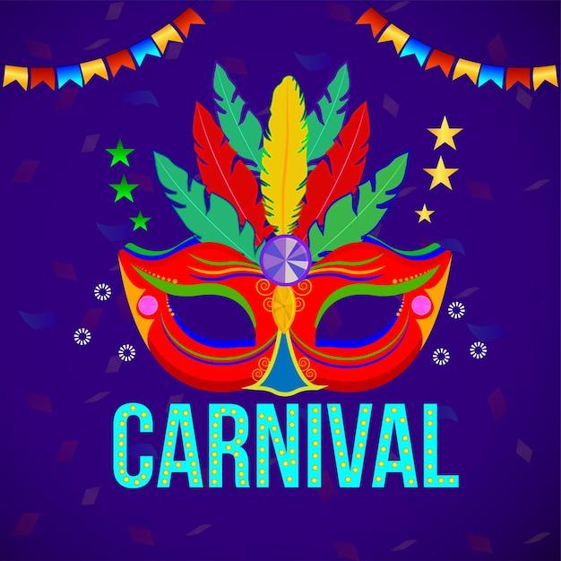 Karnevalswohnungskonzept Premium Vektoren