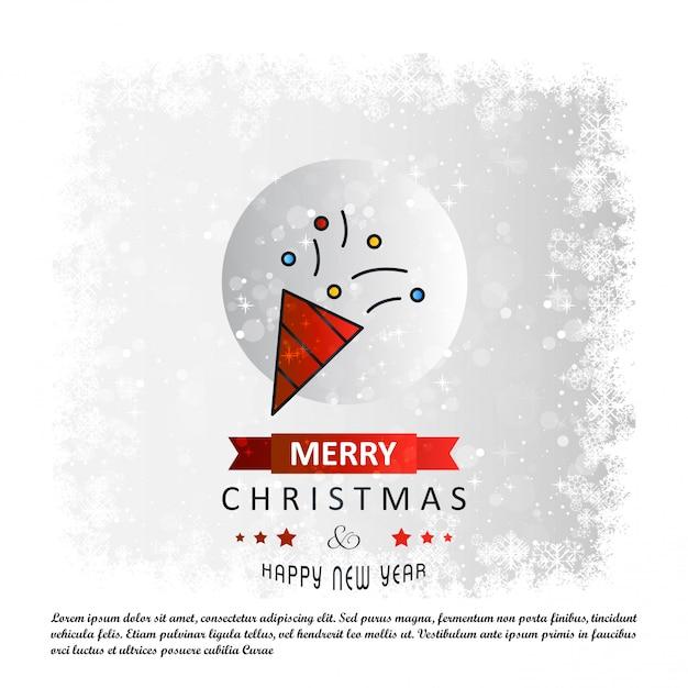 Karte der frohen weihnachten mit kreativem designvektor Kostenlosen Vektoren