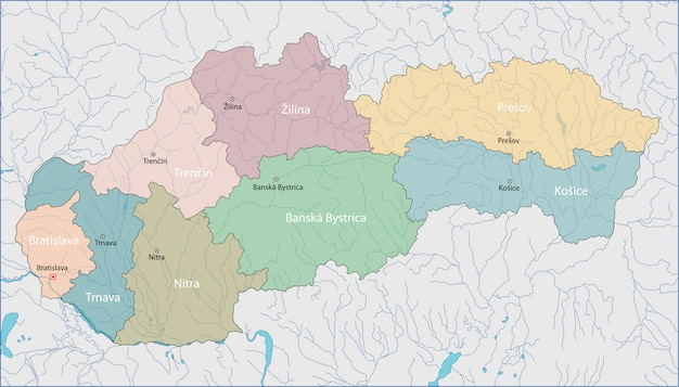 Karte der slowakei Premium Vektoren