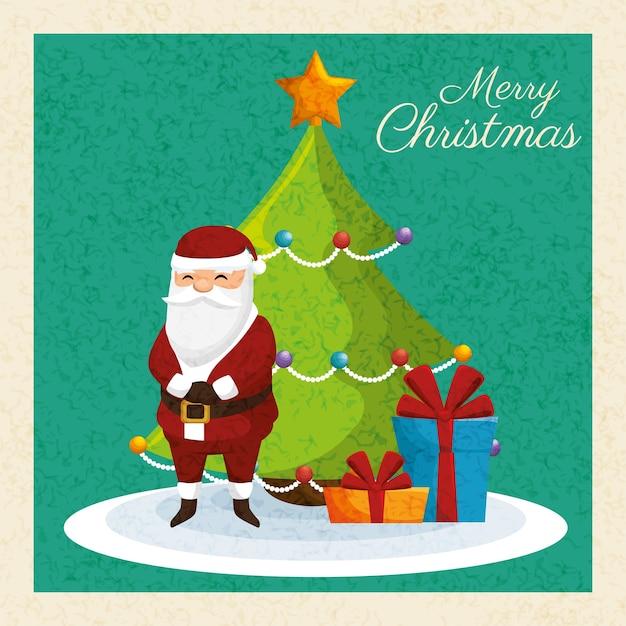 Karte Frohe Weihnachten und Neujahr Design | Download der Premium Vektor