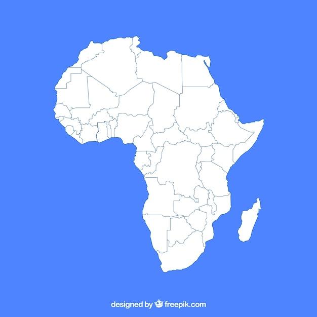 Karte von afrika in der flachen art Kostenlosen Vektoren