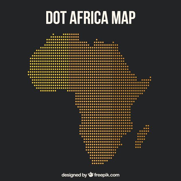 Karte von afrika mit punkten von farben Kostenlosen Vektoren