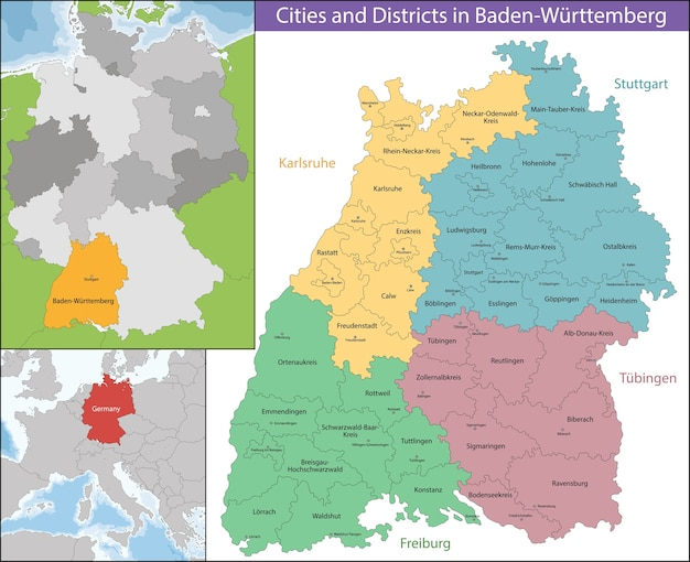 Karte Von Baden-Württemberg