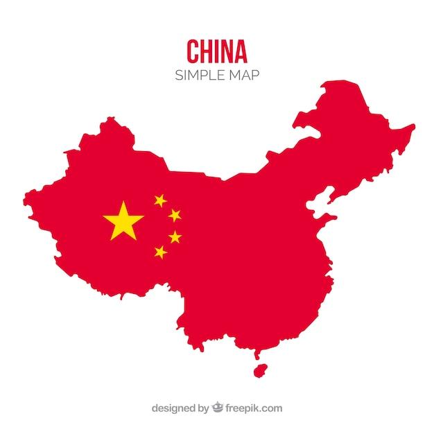 Karte von china Kostenlosen Vektoren