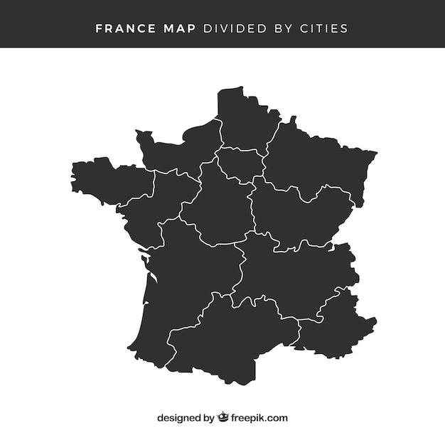 Karte von frankreich Kostenlosen Vektoren