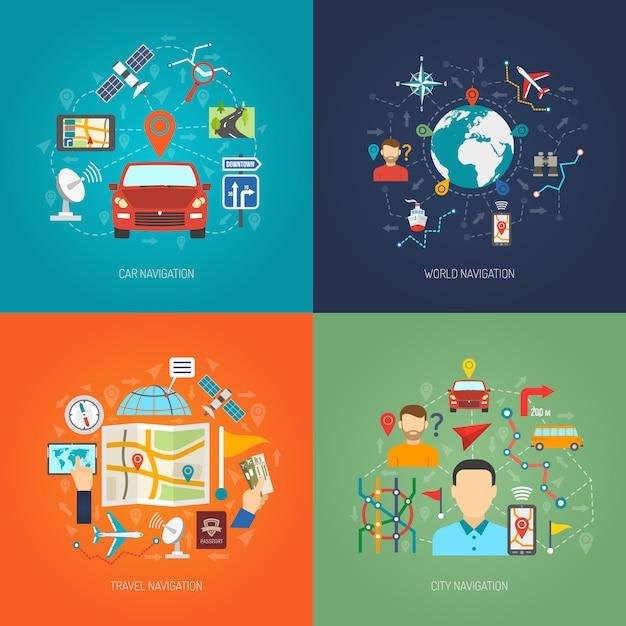 Karten-design-konzept Kostenlosen Vektoren