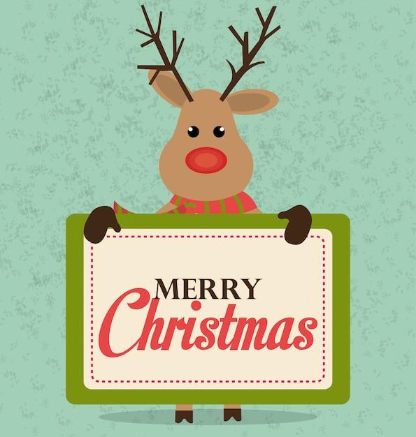 Kartendesign der frohen weihnachten und des guten rutsch ins neue jahr Kostenlosen Vektoren