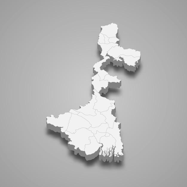 Kartenstaat indien Premium Vektoren