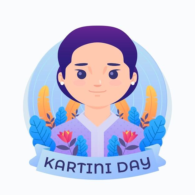 Kartini tagesillustration Kostenlosen Vektoren