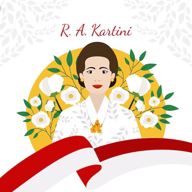 Kartini tageskonzept Kostenlosen Vektoren