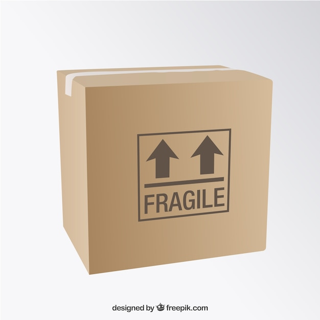 Kartonbox Kostenlosen Vektoren