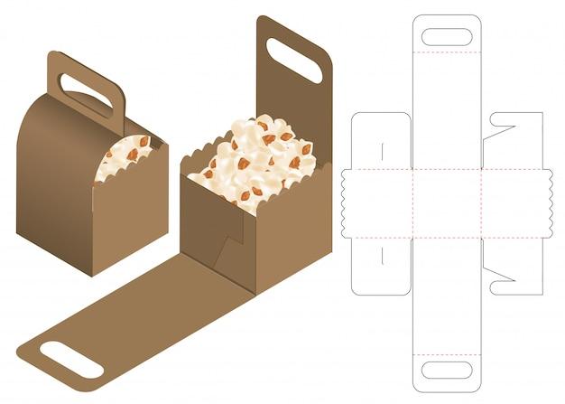 Kartonverpackung gestanzte Template-Design Premium Vektoren