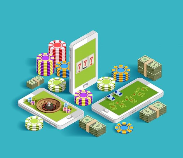 Kasino-elektronische spielende zusammensetzung Kostenlosen Vektoren