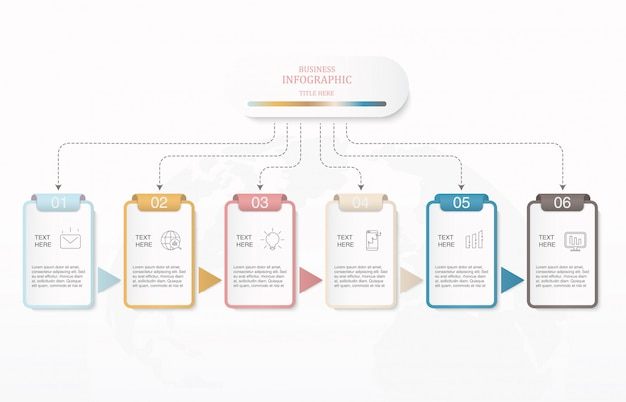 Kastenquadrat infographic-schablone für anwesendes geschäftskonzept. Premium Vektoren