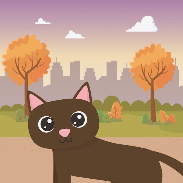 Katze cartoon Kostenlosen Vektoren