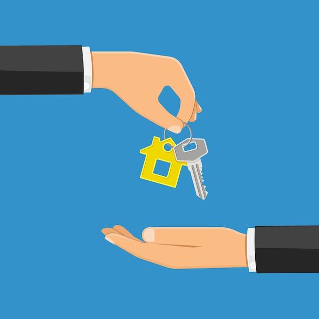 Kauf oder vermietung von immobilienkonzept Premium Vektoren
