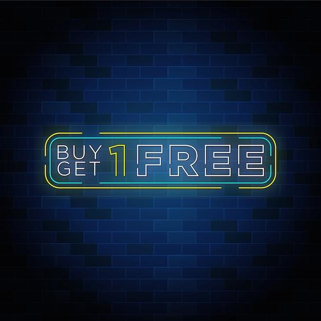 Kaufen sie ein kostenloses neon-text-button-design. Premium Vektoren