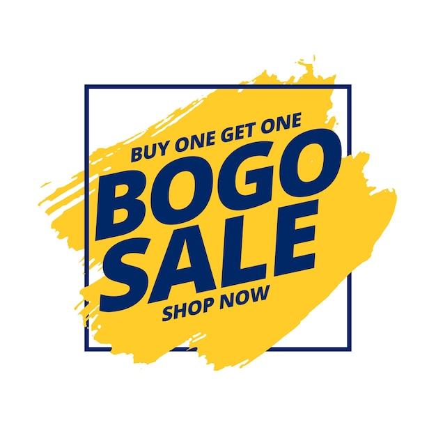 Kaufen sie ein und erhalten sie ein kostenloses bogo sale-banner Kostenlosen Vektoren