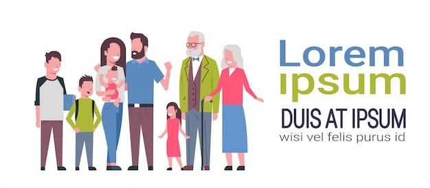 Kaukasischen familie banner vorlage Premium Vektoren