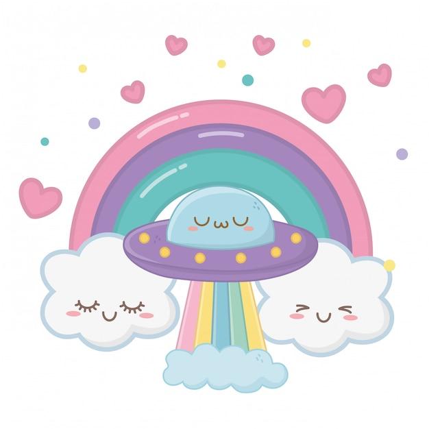 Kawaii von ufo-cartoon Premium Vektoren