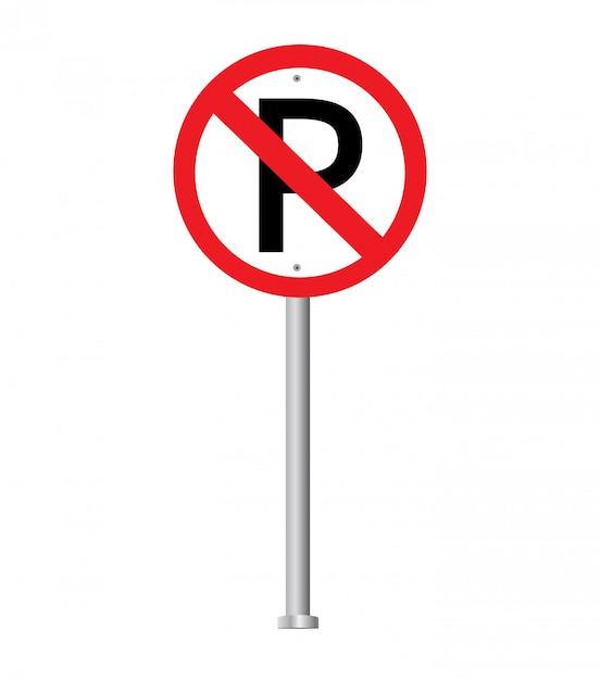 Kein parkschild. verbotszeichen. Premium Vektoren