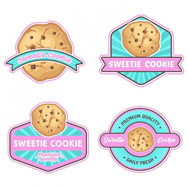 Kekse logo lager vektor gesetzt Premium Vektoren