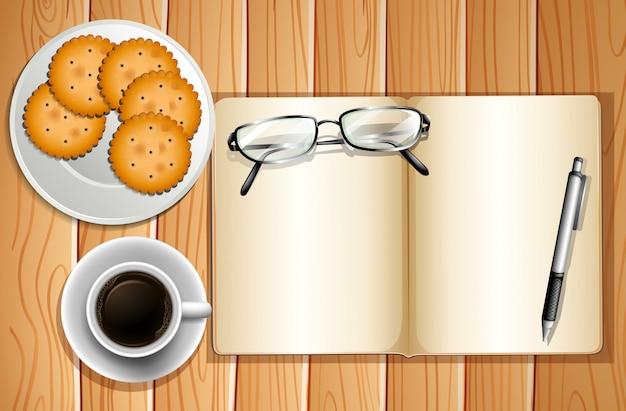 Kekse und kaffee Premium Vektoren