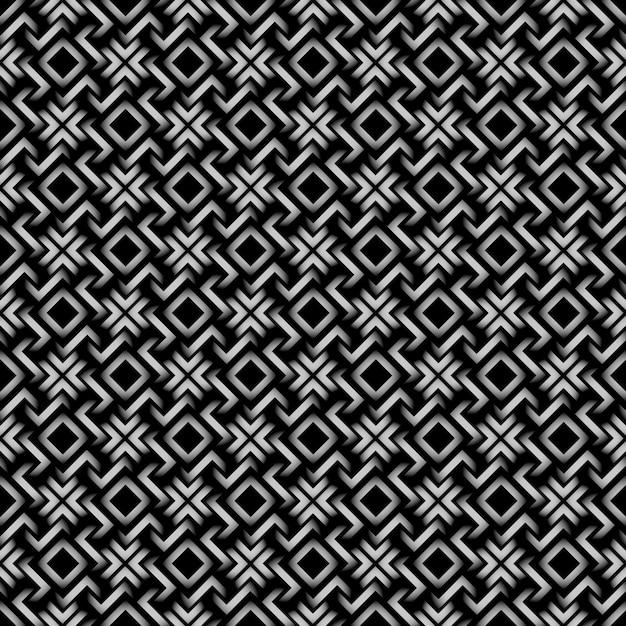 Keltische art - geometrisches nahtloses muster 3d Premium Vektoren