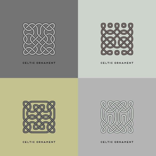 Keltisches ornament Premium Vektoren