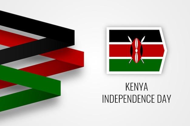 Kenia unabhängigkeitstag illustration Premium Vektoren