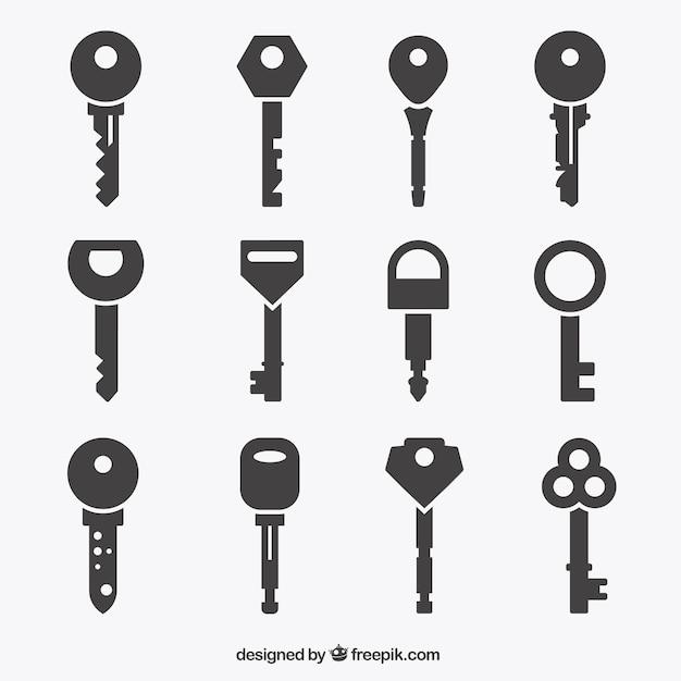 Key-ikonen-sammlung Kostenlosen Vektoren