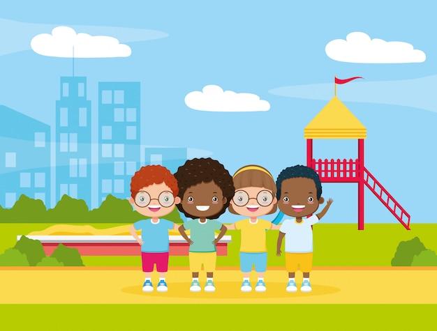 Kids zone hintergrund Kostenlosen Vektoren