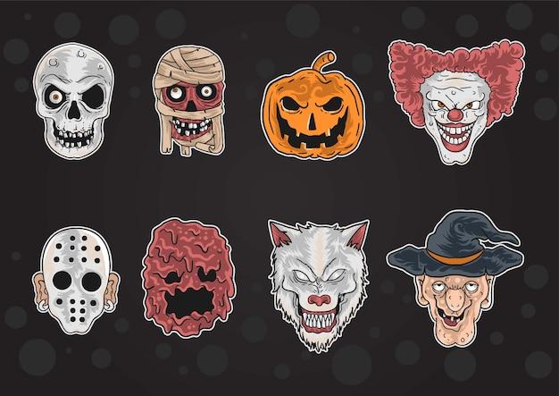 Kind halloween maske Premium Vektoren