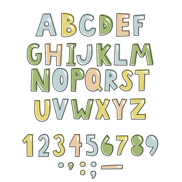 Kinder-alphabet. Premium Vektoren