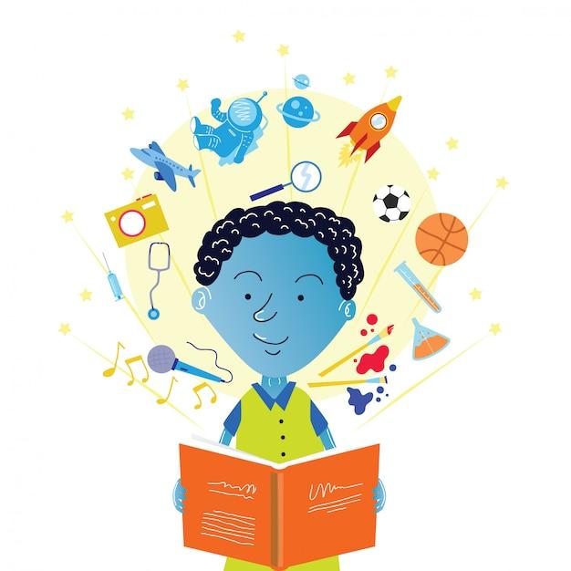 Kinder-illustration-design Premium Vektoren