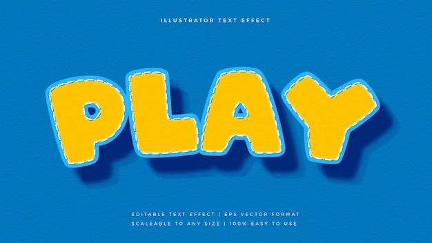 Kinder spielerische comic-text-stil schrift-effekt Premium Vektoren