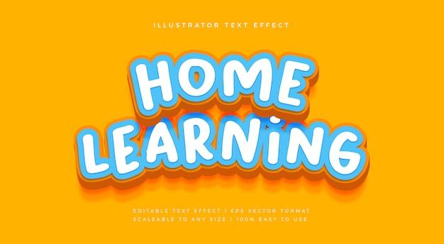 Kinder verspielter textstil-schrifteffekt Premium Vektoren