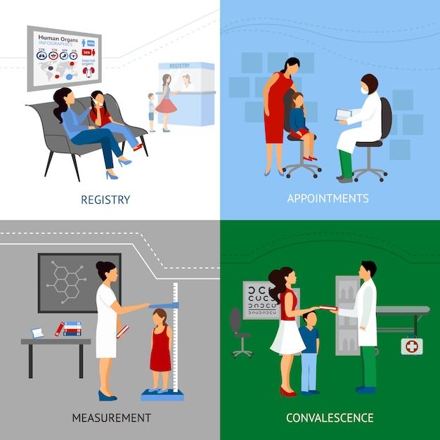 Kinderarzt-design-konzept Kostenlosen Vektoren
