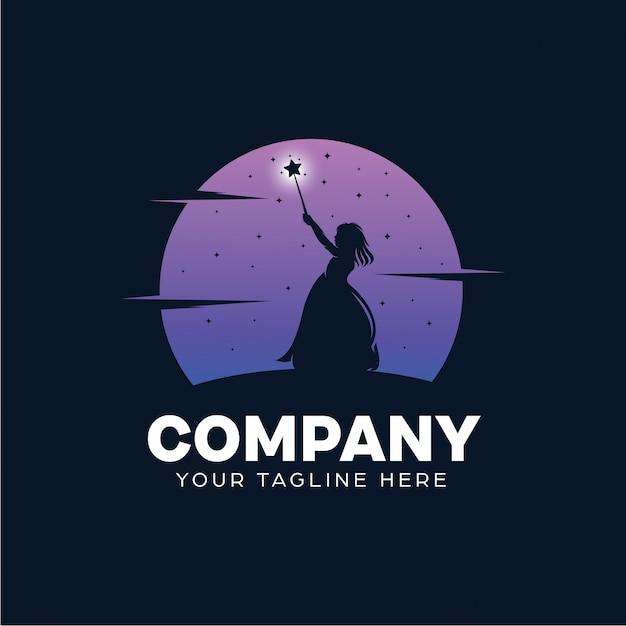 Kinderfee logo design vorlage Premium Vektoren