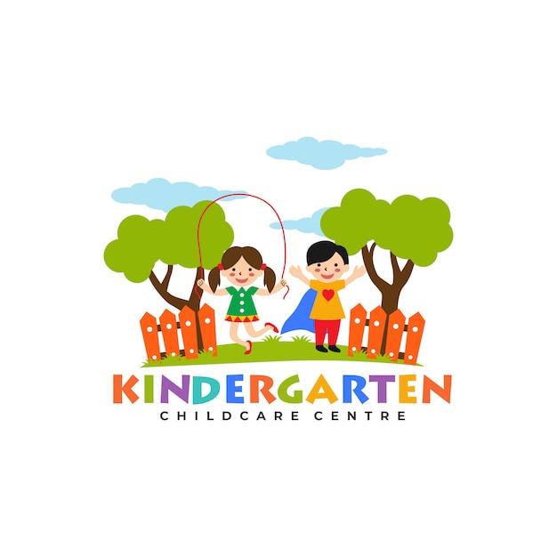 Kindergarten Logo Vorlagen Premium Vektor