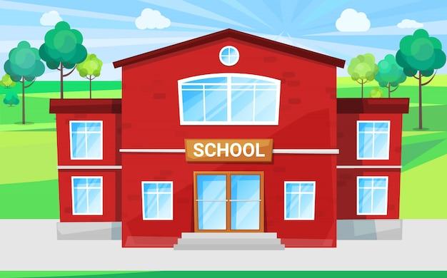 Kinderschule, bildungsstätte für alma mater Premium Vektoren